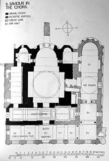 San Salvador de Cora - Interior de la Iglesia de San Salvador de Cora. Planta. Wikipedia, la enciclopedia libre