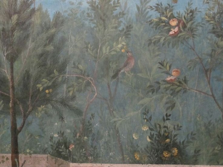 Frescoes from the House of Livia. Pslazzo Massimo