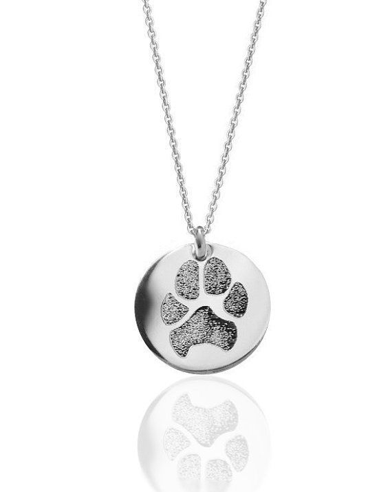 Your pet's actual paw print personalized pendant necklace