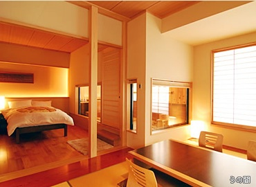 Room at the Nenoyu Taizanso hotel in Izu, Japan