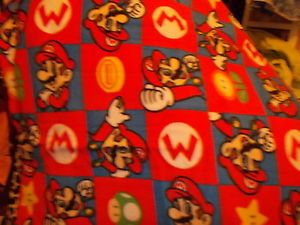 Mario Brothers game  fleece personalized balnket 36x30