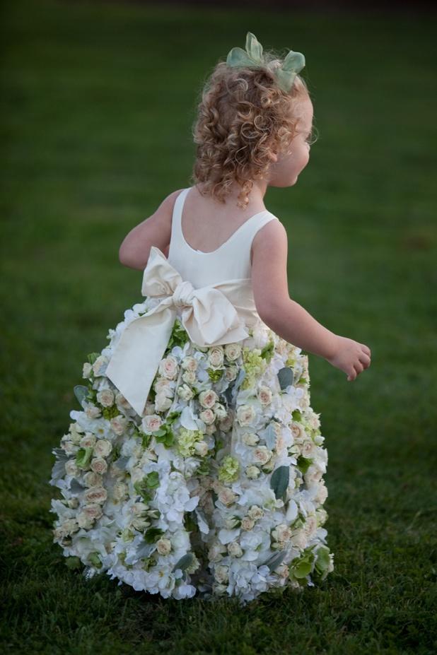 flowers little girl dress - Sayles Livingston