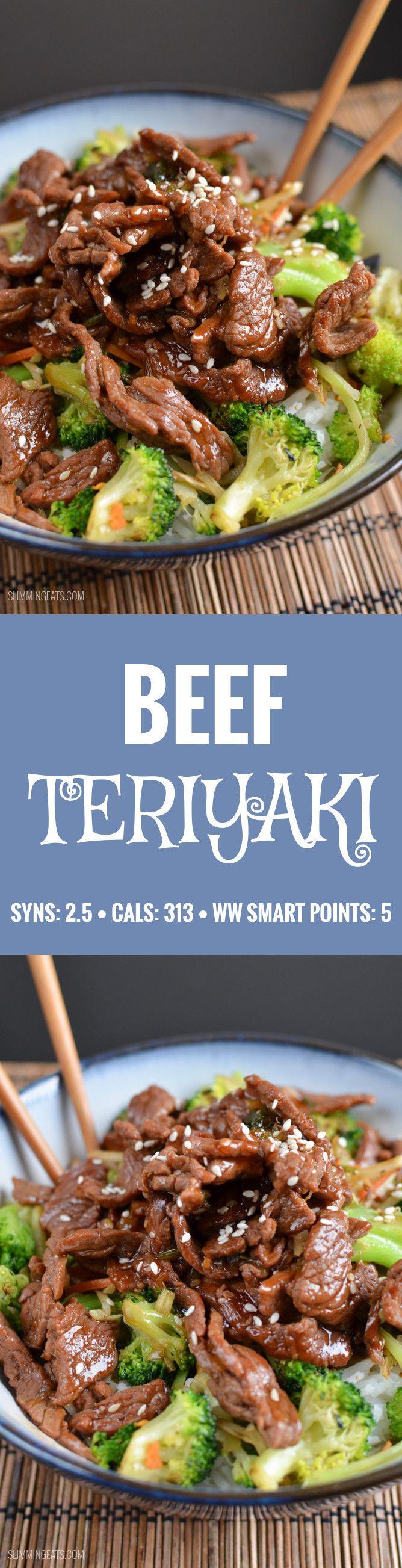 Slimming Eats Teriyaki Beef - gluten free, dairy free, Paleo, Slimming World (SP) and Weight Watchers friendly