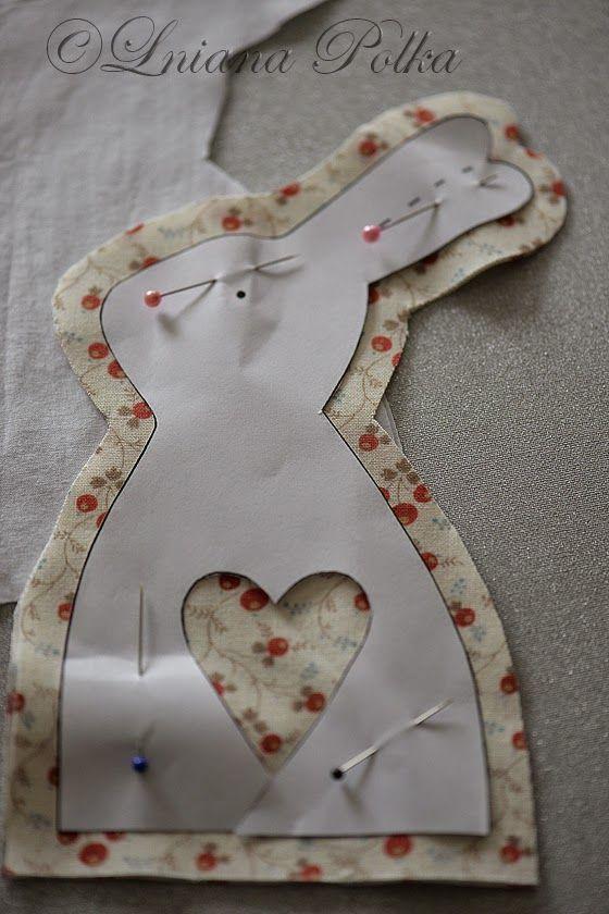 Znalezione obrazy dla zapytania duka zajaczki z tkaniny