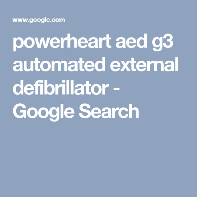powerheart aed g3 automated external defibrillator - Google Search