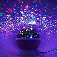 Sternenhimmel Projektor, Ubegood 360 Grad drehbar Star Projektor Romantische Nacht Lampe Projektion 4 LED Wulst für Haus, Schlafzimmer, Kinder Zimmer, Hochzeit, Geburtstag, Parteien (Rosa)