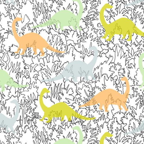 print & pattern blog - marie gardeski : dinosaur fabric print