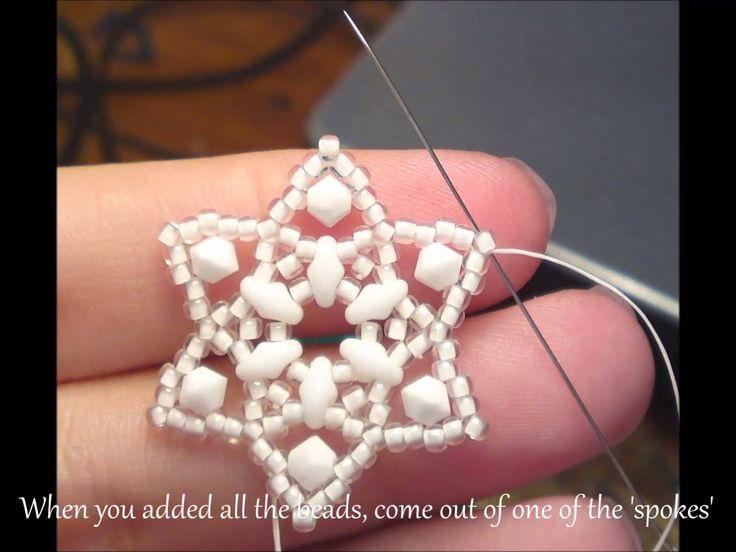 Stars of Bethlehem Earrings Beading Tutorial by HoneyBeads (Photo tutorial)