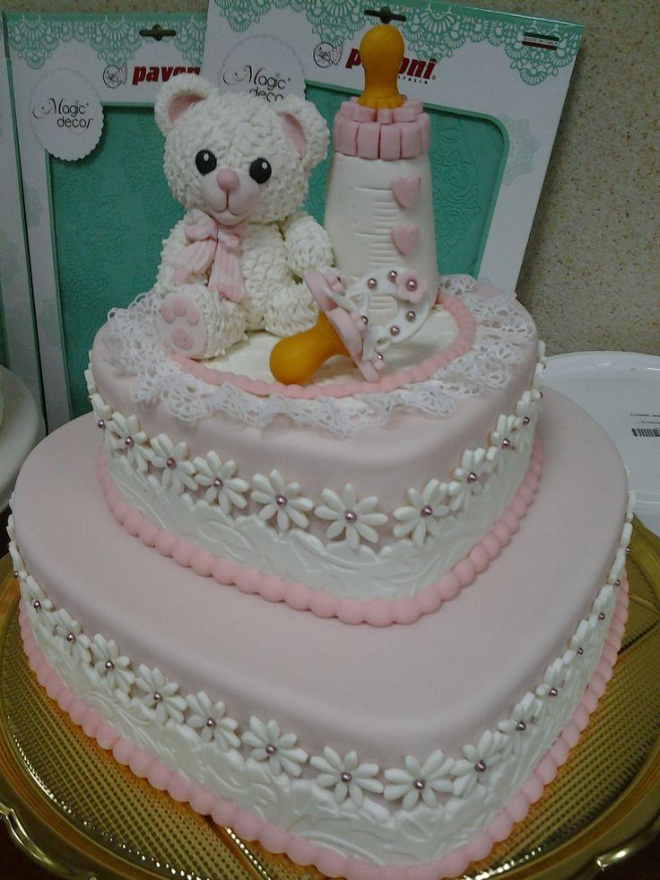 torta a cuore battesimo girl Omar Busi