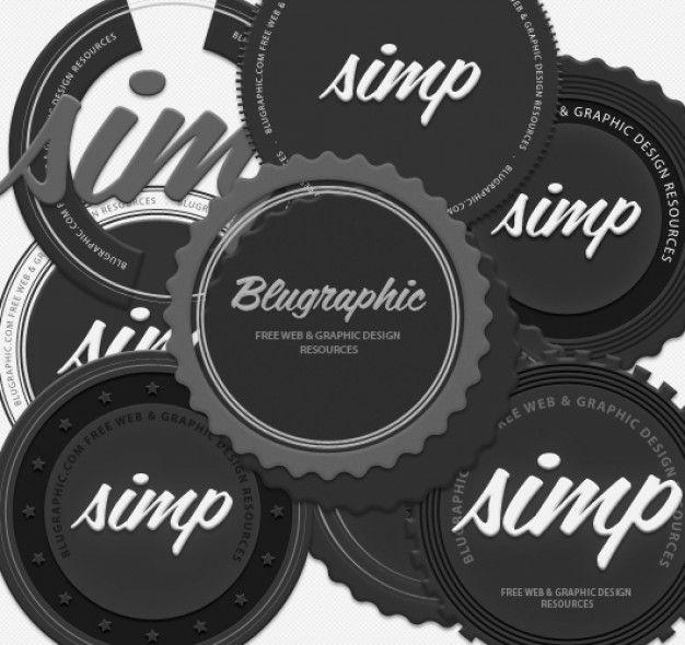 8 Circle Vintage Badges