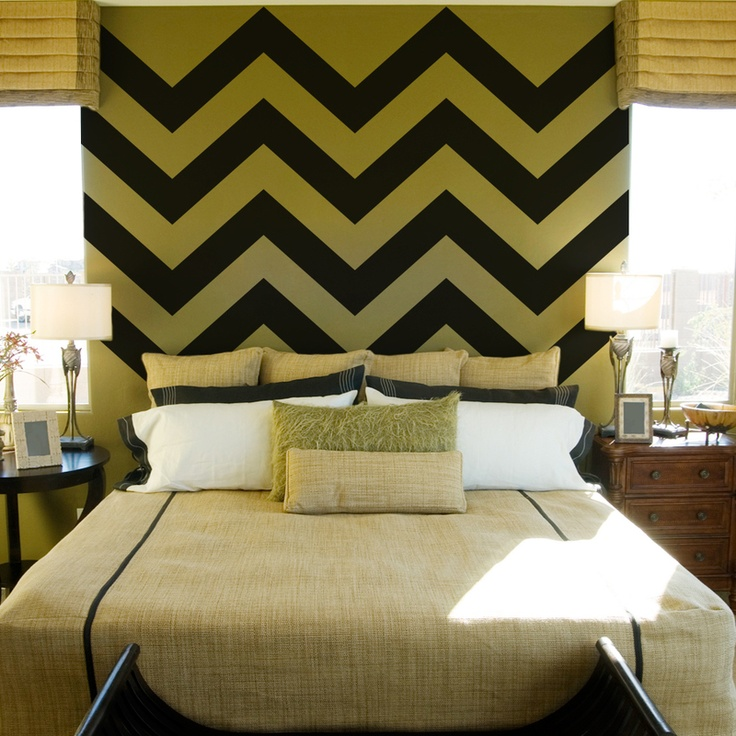 Chevron Stripe Wall Decals: Chevron Stripes Wall, Home Interiors, Design Interiors, Wall Decals, Decals Sets, Chevron Wall, Modern House, Design Home, Chevron Strips