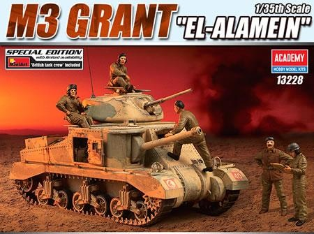 Academy M3 Grant El Alamein 1/35th Scale Special Edition Plastic Kit With Mini Art Crew   Hobbies Limited Availability, with rubber tracks and full crew set, this is a bargin of a kit and for under £30 !!!