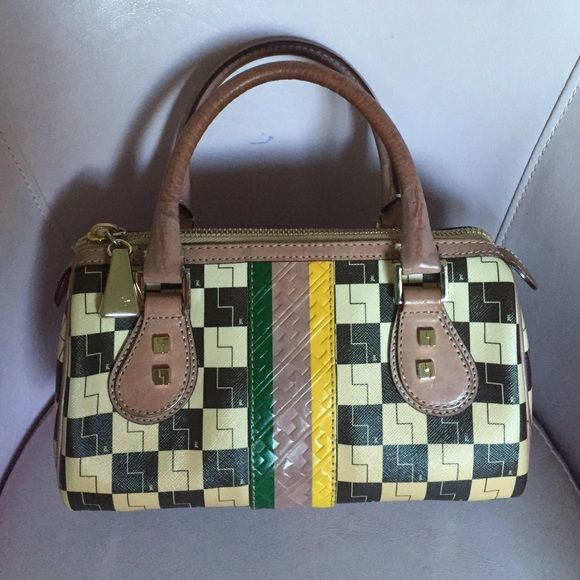 L.A.M.B. CheckeredOmbré Rasta Mini Bag,collectible Beautiful bag! Perfect condition! Beautiful patina on leather! Comes with dust bag. L.A.M.B. Bags