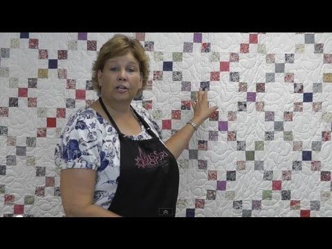 Quilt tutorial! Jenny teaches you how to make an Irish chain quilt using jelly rolls. Simple, yet stunning!