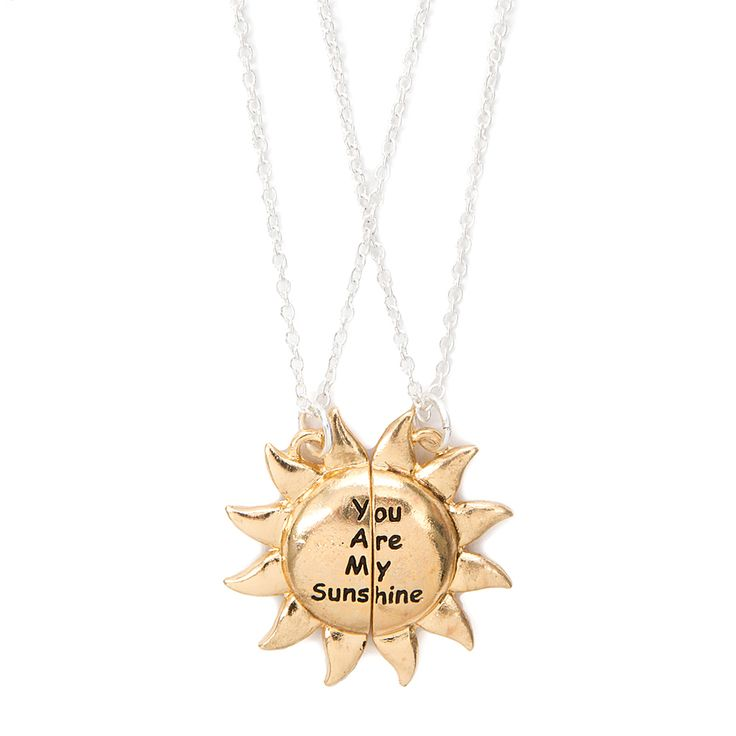 Best friends you are my sunshine pendant necklaces claires my best friends you are my sunshine pendant necklaces claires my sunshine 3 pinterest sunshine pendants and jewelry accessories aloadofball Choice Image