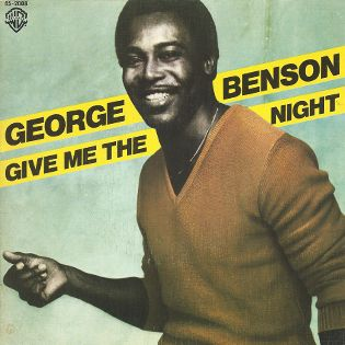 "George Benson Give the night single vinilo 7"" 45 rpm vinyl single. Mercado de la Tía Ni, Sabarís, Baiona."