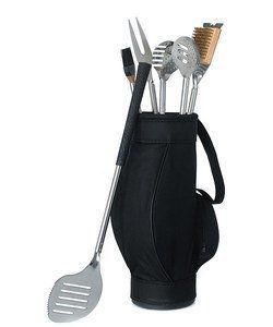 Novelty 5 Piece BBQ Tools in Black Golf Bag and Golf Grips by Weddingstar Inc.. $35.00. Exquisite Wedding Accessories. Personalization NOT included unless stated otherwise. Bridal Gifts. f grip handles.. Mix Golf + BBQ to create the perfect guy gift. This golf themed BBQ tool set comes complete with gol. Mix Golf + BBQ to create the perfect guy gift. This golf themed BBQ tool set comes complete with golf grip handles.