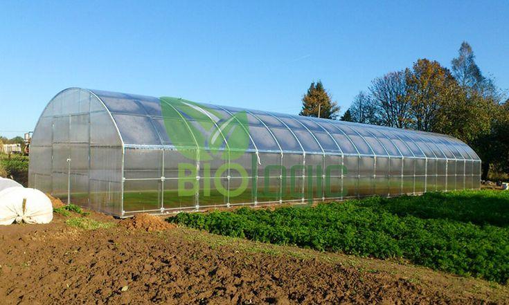 Tuinkas Bio-Logic XXL 5x4m met Polycarbonaat Actual Bio  Tuinkas 3D is ontworpen om de beste omstandigheden te creëren voor het opkweken van planten bloemen en groenten in uw tuin.De boogvormige tuinkas wordt geleverd als een frame van gegalvaniseerde buizen van 30x20 mm en kan bedekt worden met bio-polycarbonaat. Om een maximale stevigheid te garanderen zijn de uiteinden volledig gelast en bestaan de bogen uit één geheel zonder verbindingsstukken.Alle constructies hebben aan de uiteinden…