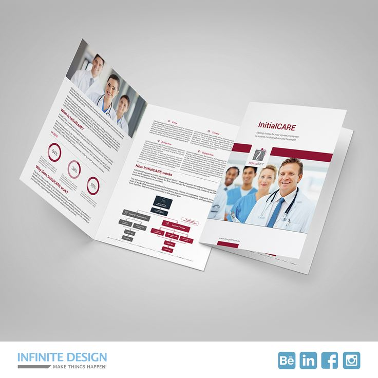 This is a company profile I designed for InjuryNET, they coordinates workplace #medical #services ranging from early intervention treatment. Based in #Melbourne #Australia.