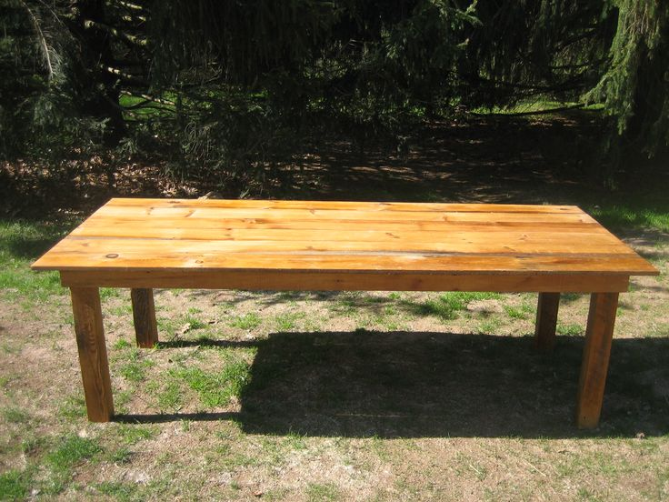 Farm tables available for rental.