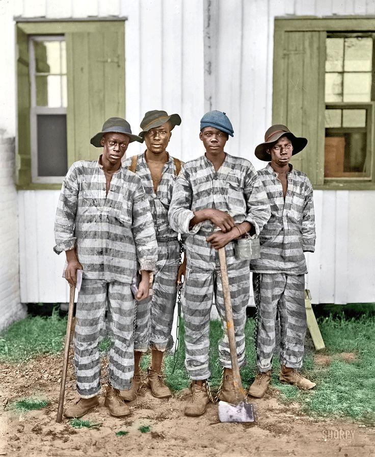 Shorpy Historical Photo Archive: Inmates. (Colorized Photo) 1905.
