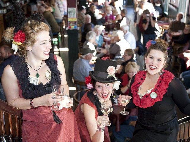 Ralph Crane, Girls dancing the can-can, Skagway, Alaska