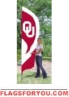 Oklahoma Sooners Tall Team Flag 8.5' x 2.5'