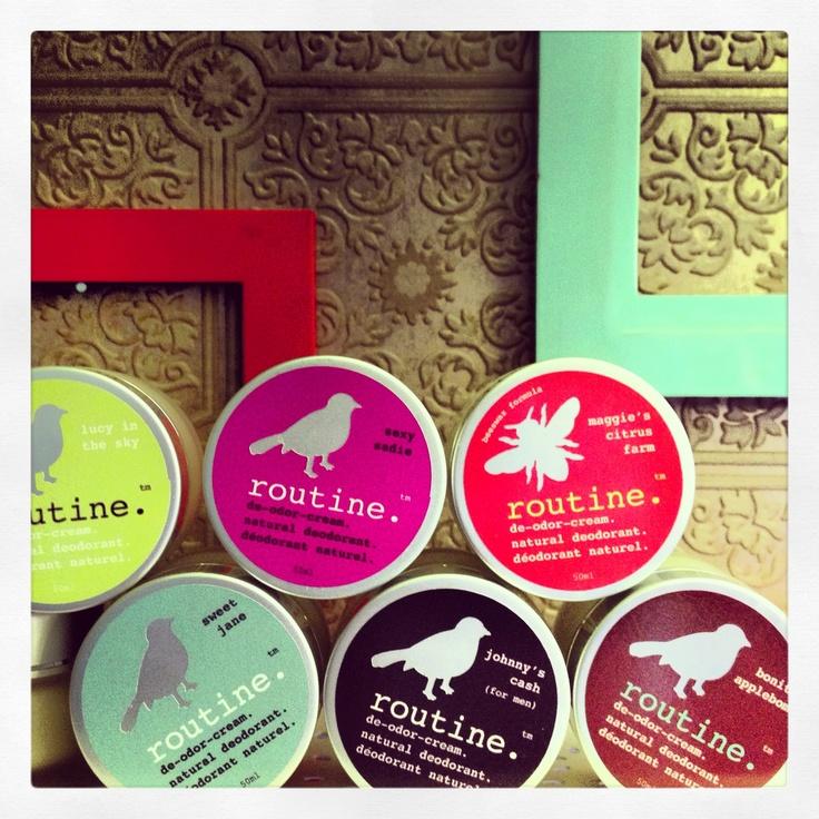 the ever growing routine de-odor-cream collection. www.routinecream.com