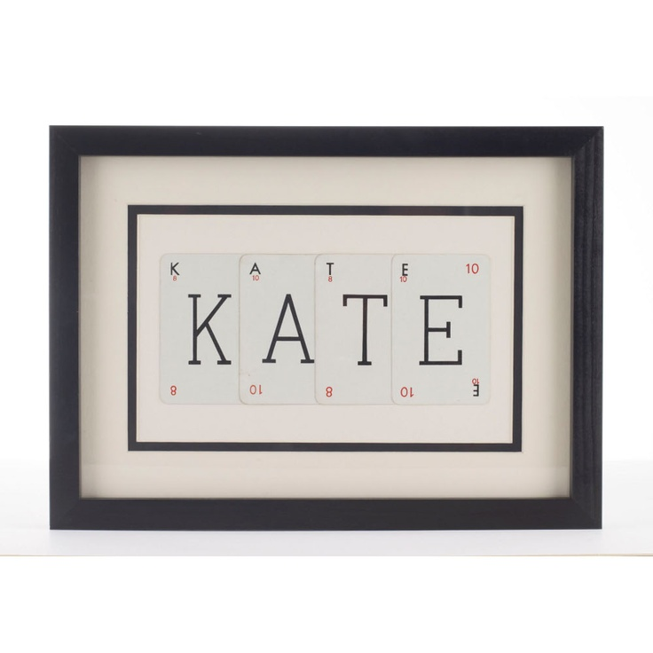 Vintage Playing Cards Personalised Frame small
