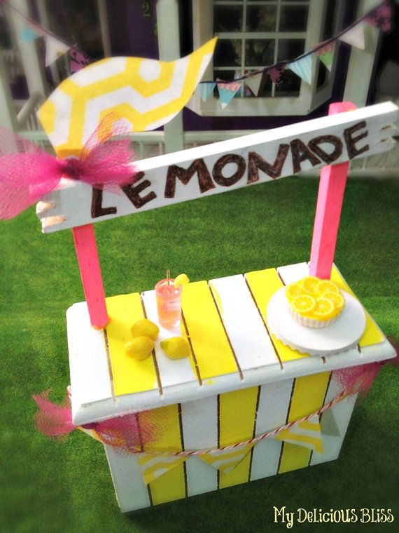 Miniature Lemonade Stand by MyDeliciousBliss on Etsy,