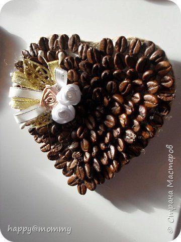Декор предметов Валентинов день Магниты на холодильник Valentine's day Кофе Мешковина Ткань фото 1