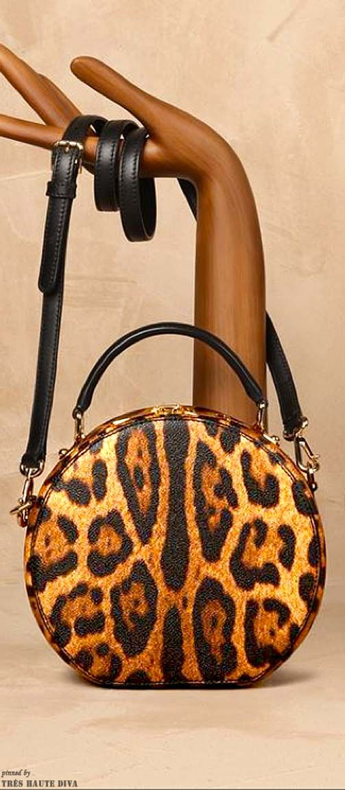 ~Dolce & Gabbana Small Leopard Print Anna Bag | The House of Beccaria