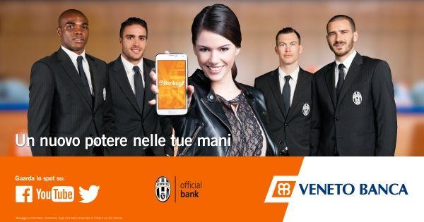 Mi piace l'accoppiata Juve e app di Veneto Banca #BankUpMobile, il video è troppo carino!! ^__^ #Juventus #ad