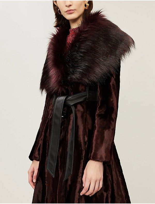 Faux Fur Wrap Coat | Karen Millen