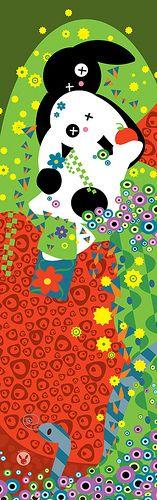 """Adam et Eve"" d'apres Klimt"