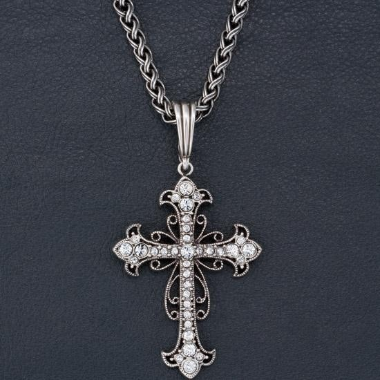 Scroll Cross Necklace- i'm not much for a cross but this one is beautiful