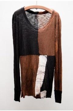 Brown Long Sleeve Top | $235