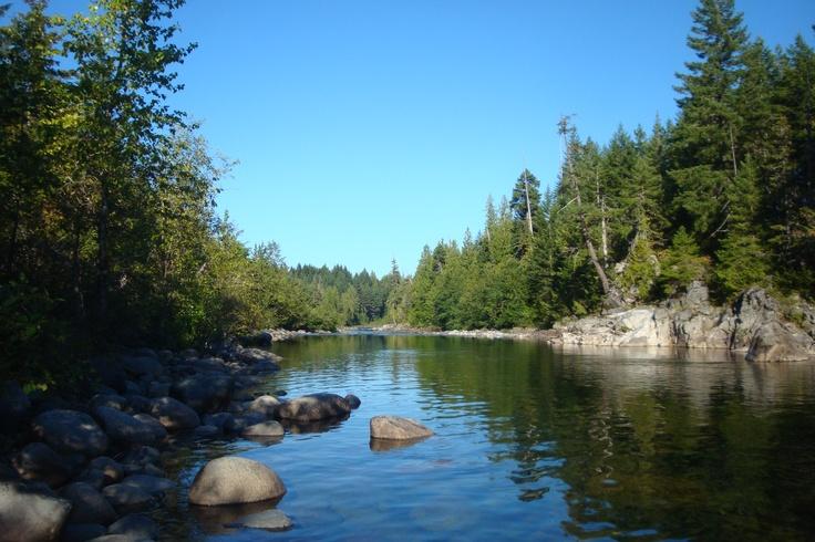 Secret spot on the Nanaimo River. Wonderful place.