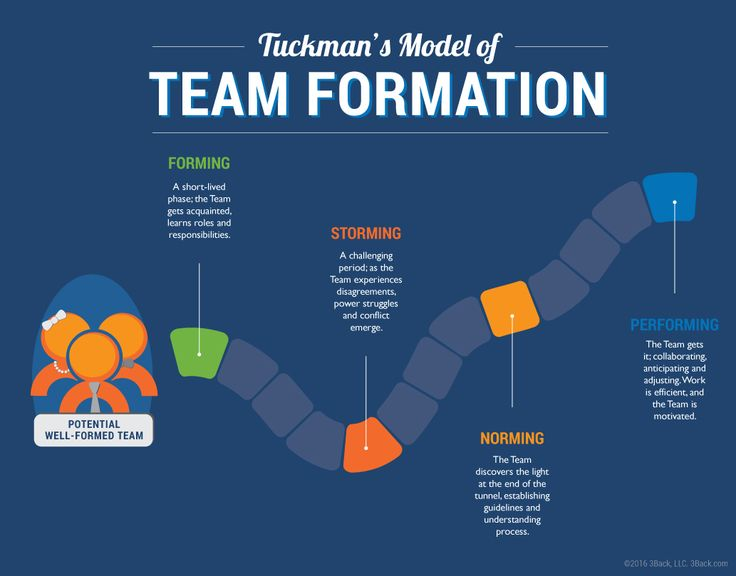 This link provides information using the Trucman's Model to form sports teams. It reviews the 4 phases; Forming, Storming, Norming, and Performing to build successful teams.