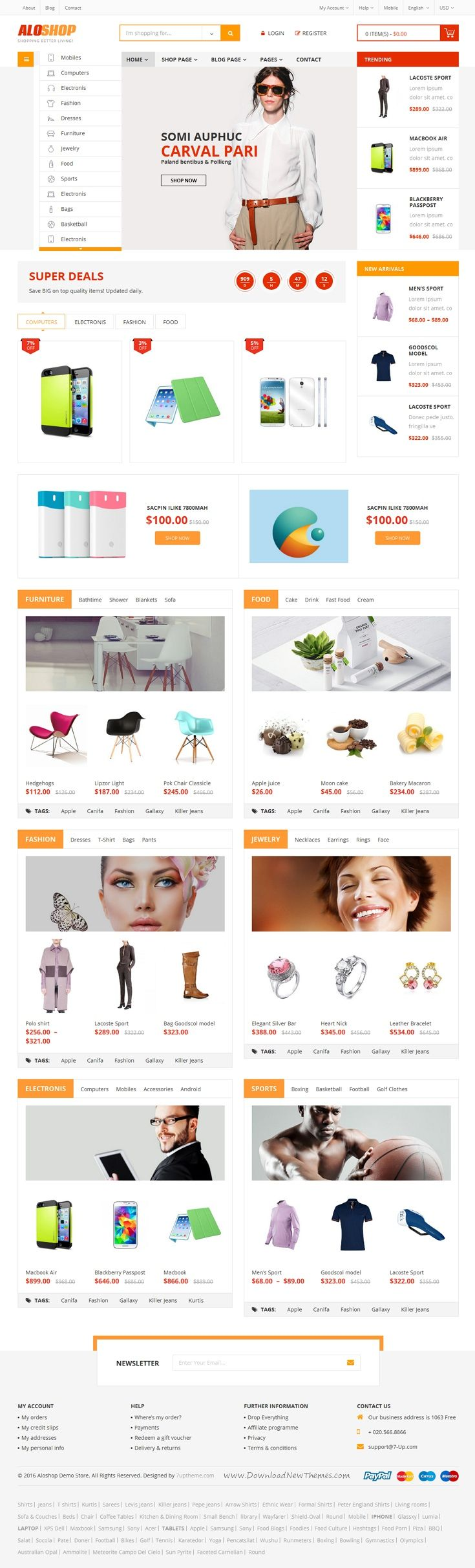 AloShop is stylist WooCommerce WordPress #Theme for multipurpose #eCommerce #website. Comes with 12+ homepage style and amazing features. Download Now!