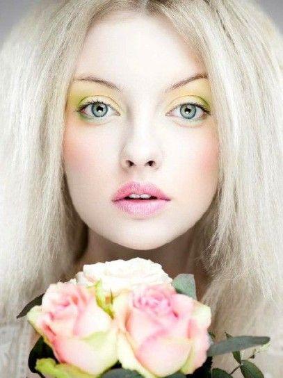 Trucco occhi giallo pastello