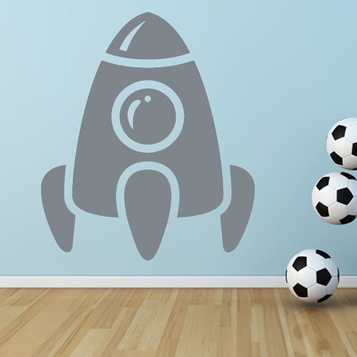 DCTOP DIY Removable Vinyl Wall Decal Home Decor Living Room Rocket Cartoon Wall Stickers For Kids Rooms