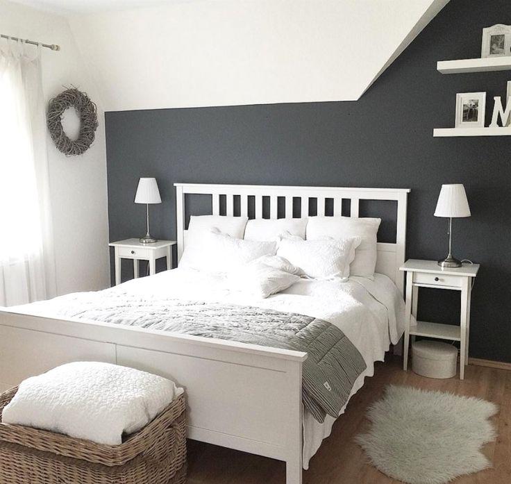 schlafzimmer gestalten grau weiß Luxury bedroom