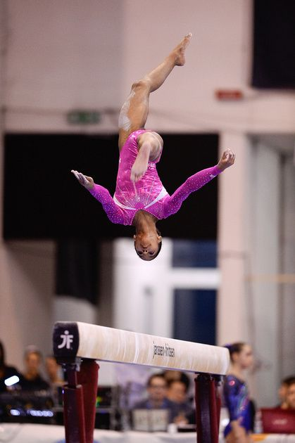 2014 Jesolo Trophy-International-Jordan Chiles flying high. This girl goes to my gym. I used to train with her a while ago. She is a 2020 Olympics hopefull and she's only 12.