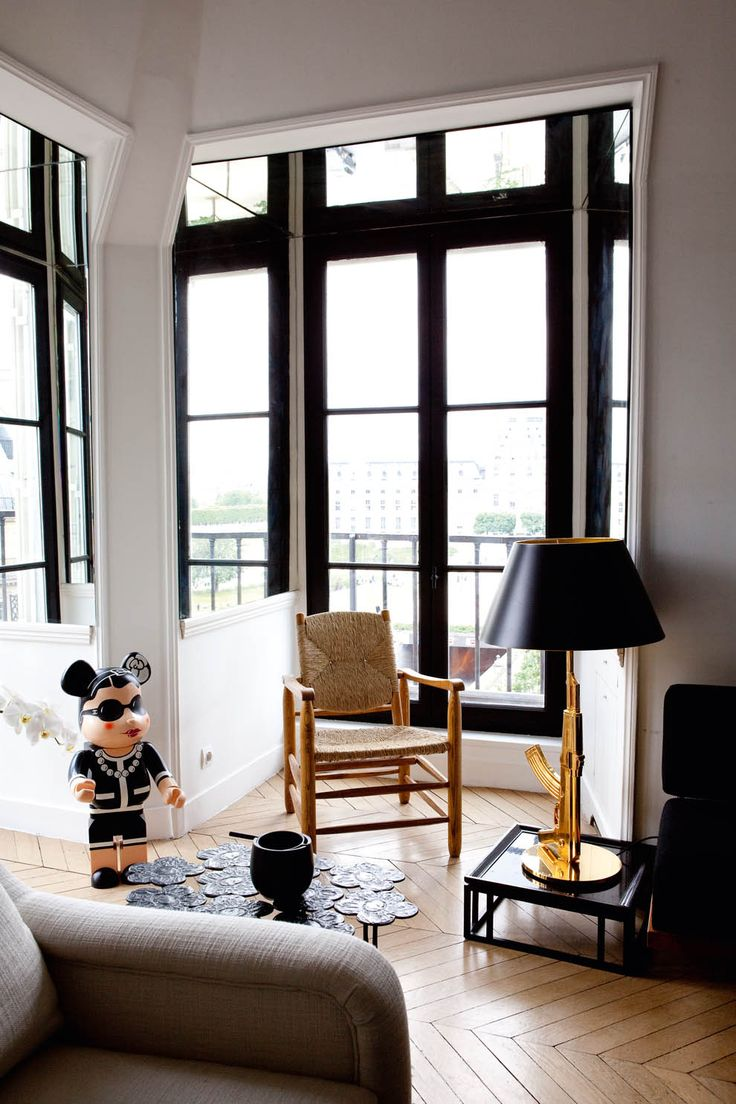 Apartment of French interior stylist Sarah Lavoine in Paris