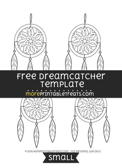 free dreamcatcher template small shapes and templates printables