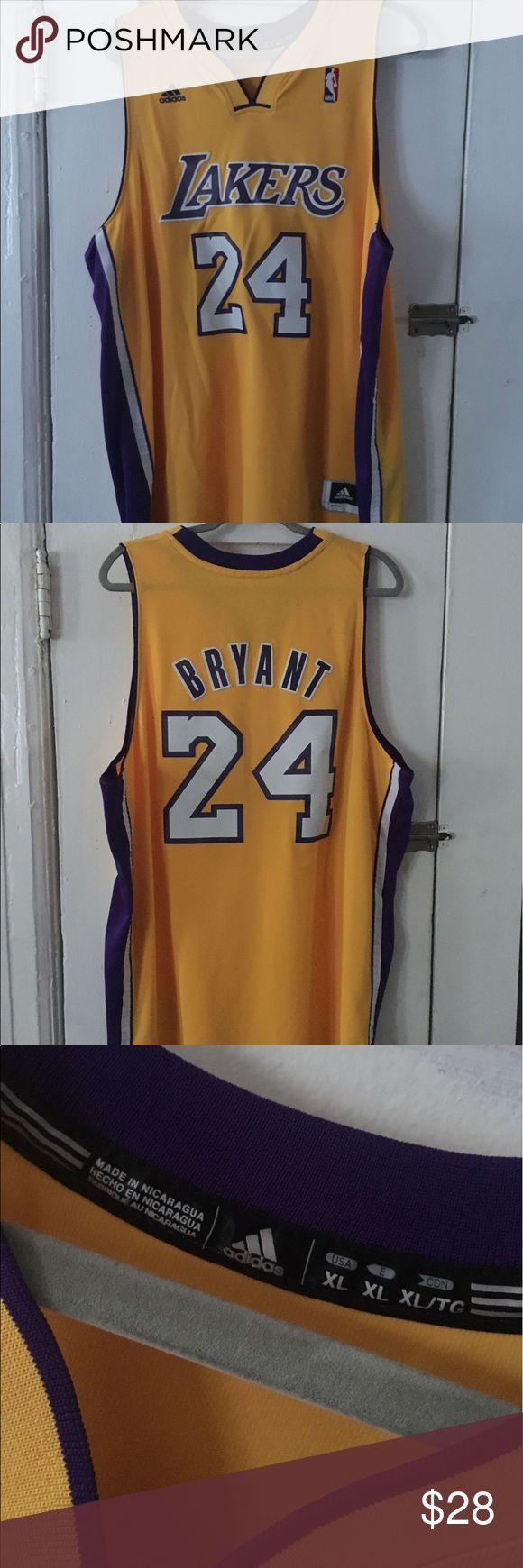 Adidas Kobe Bryant Jersey #24 preowned Adidas Kobe Bryant Jersey Size XL. Used Jersey Adidas Shirts Tank Tops