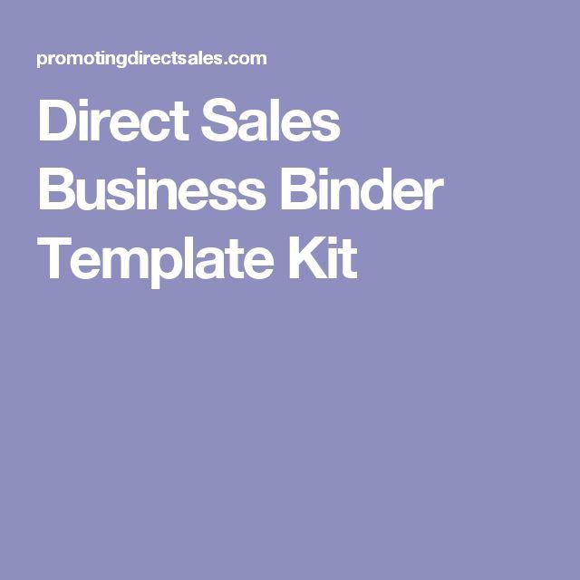 Direct Sales Business Binder Template Kit
