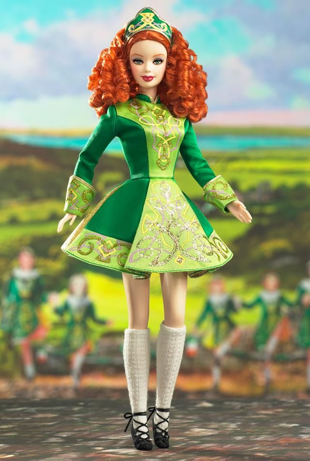 Irish Dance Barbie Doll 2006...reminds me of daughter's competitive Irish dance days...so much fun!