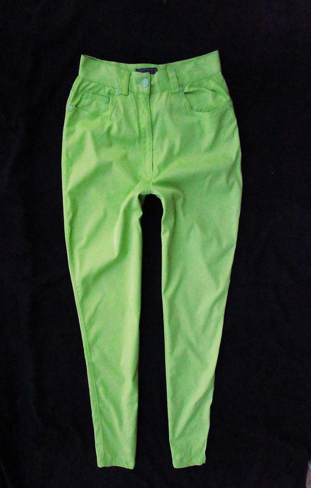 ladies skinny jeans Versus by  Versace neon green IT 46 EU M-L